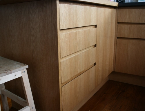 Handle-free Bevelled-edge drawer fronts